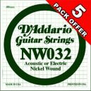 D'Addario NW032 - 5 PACK