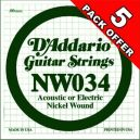 D'Addario NW034 - 5 PACK