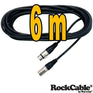 Rockcable mikrofonkabel 6 meter RCL 30306 D6